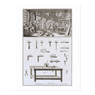 Plate XVIII: The instrument maker's workshop and t Postcard
