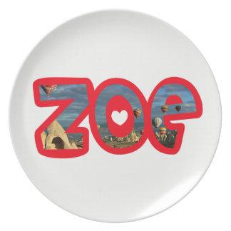 Plate Zoe melanin