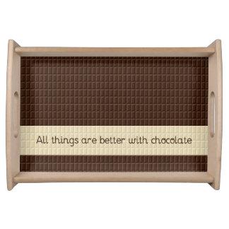 Plateau de portion de barre de chocolat
