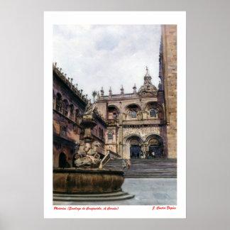 Platerías (Santiago de Compostela. To Corunna) Poster