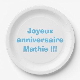 Plates birthday