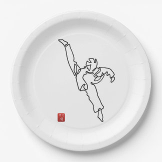 Plates out of paperboard DWICHAGI back kick