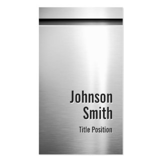 Platinum Aluminum Stainless Steel Look Pack Of Standard Business Cards