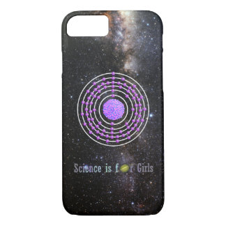 Platinum Atom Science is for Girls Case-Mate iPhone Case