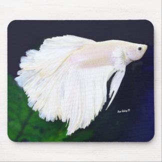 Platinum Betta fish Mouse Pad