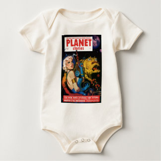 Platinum Blonde and her Monster Friend Baby Bodysuit