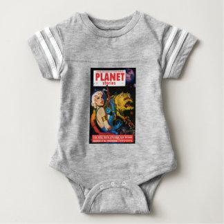 Platinum Blonde and her Monster Friend Baby Bodysuit