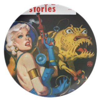 Platinum Blonde and her Monster Friend Plate
