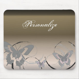 Platinum Butterfly Trio Mousepad