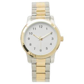 Platinum-Colored Wristwatch