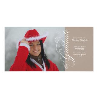 Platinum Elegant Script Graduation Photocard Photo Card Template