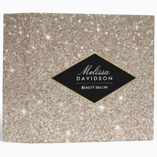 Platinum Glitter and Glamour Personalized Binder