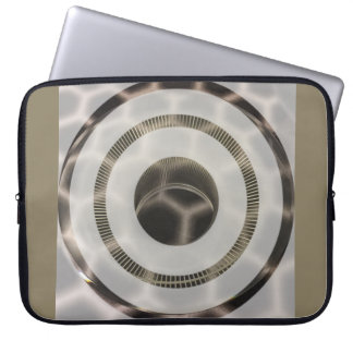 Platinum gold circles in circles laptop sleeve