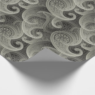 Platinum Paisley Timeless Pattern Wrapping Paper
