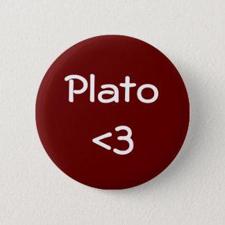 Plato <3 2 inch round button