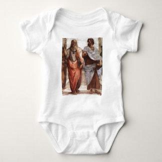 Plato and Aristotle Baby Bodysuit