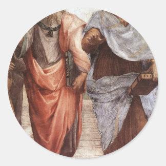 Plato and Aristotle Classic Round Sticker