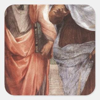 Plato and Aristotle Square Sticker