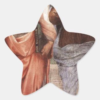Plato and Aristotle Star Sticker