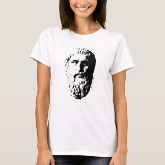Plato Bust Greek Philosopher Beard Spleeburgen T-Shirt