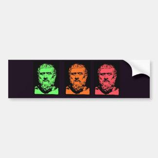 Plato Collage Bumper Sticker