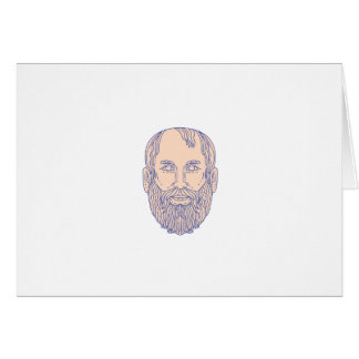 Plato Greek Philosopher Head Mono Line Card