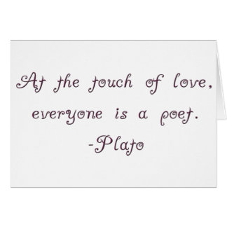 Plato Love Poet Quote Card