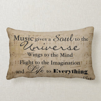 Plato Music Quote - Lumbar Pillow