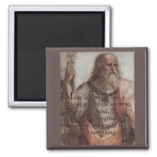 Plato on Music Quote Magnet