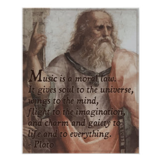 Plato on Music Quote Poster