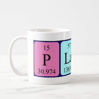 Plato periodic table name mug