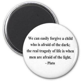Plato Quote 5a 2 Inch Round Magnet
