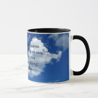 Plato Quote For Taciturn People Mug