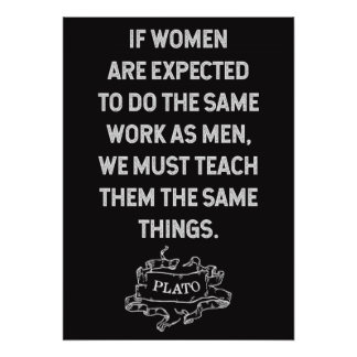 Plato Quote on Equality Poster