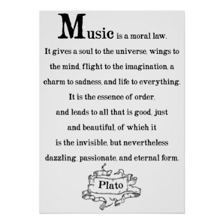 Plato Quote on Music Poster