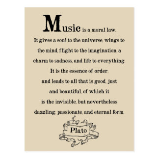 Plato Quote on Music Poster Postcard