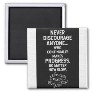 Plato Quote on Progress Magnet
