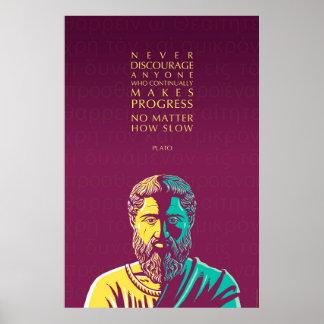 Plato quote: Progress Poster