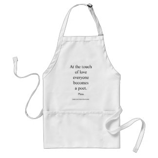 Plato Quote; The Touch Of Love Standard Apron