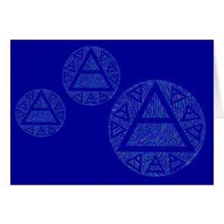 Plato s Air Sign Art Blank Greeting Card