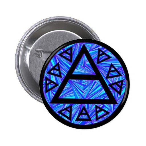 Plato's Air Symbol Triad Button Badge