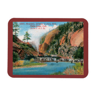 Platte Canyon, Dome Rock, Colorado Vintage Magnet