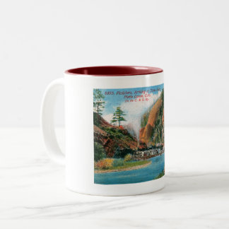 Platte Canyon, Dome Rock, Colorado Vintage Two-Tone Coffee Mug