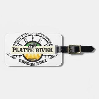 platte river ot marker luggage tag
