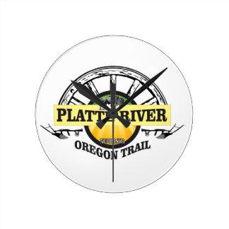 platte river ot marker round clock