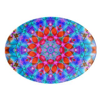 Platter kaleidoscope Diamond Flower G408