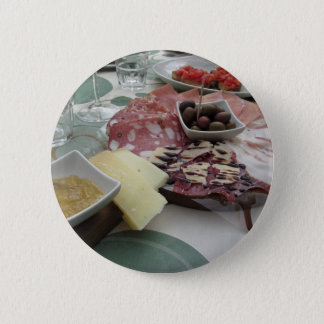 Platter of cold cuts with rustic ham prosciutto 2 inch round button