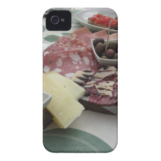 Platter of cold cuts with rustic ham prosciutto iPhone 4 Case-Mate case