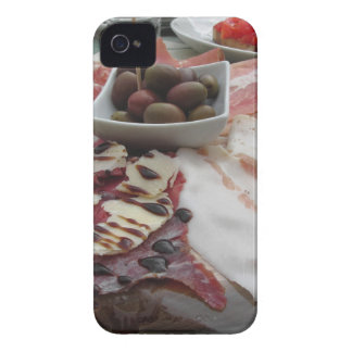 Platter of cold cuts with rustic ham prosciutto iPhone 4 Case-Mate cases