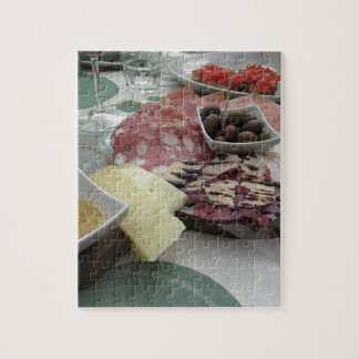 Platter of cold cuts with rustic ham prosciutto jigsaw puzzle